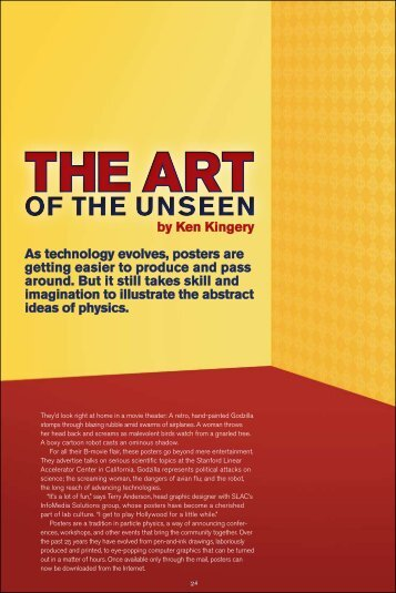 of ThE UnsEEn of ThE UnsEEn - Symmetry magazine