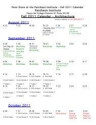 Fall 2011 Calendar - Architecture August 2011 September 2011 ...