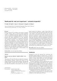 Sindromul de venã cavã superioarã - Chirurgia