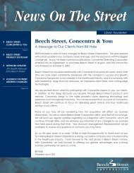 Beech Street, Concentra & You: