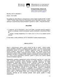 2. dopolnitev odločbe z dne 14. aprila 2006 - Fitosanitarna uprava RS
