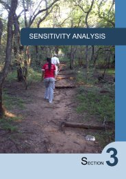SENSITIVITY ANALYSIS - Department of Agriculture and ...