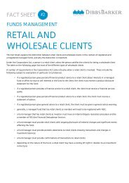 RETAIL AND WHOLESALE CLIENTS - DibbsBarker