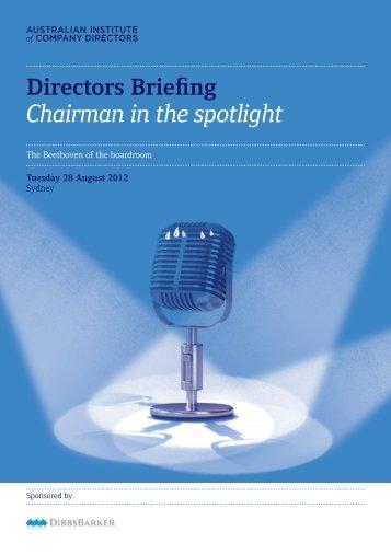 Chairman in the spotlight - DibbsBarker
