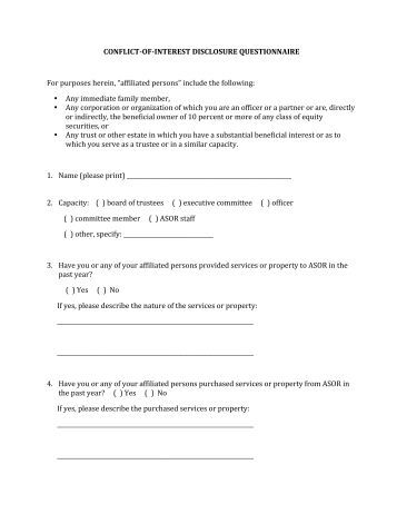 Conflict of interest form template for Conflict of interest declaration template