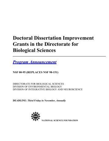 biology dissertations