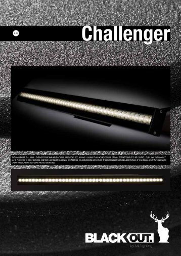the challenger is a linear lighting fixture available in three ... - Tal.be