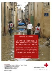 Dossier de presse JMPS 2012 - Croix-Rouge française