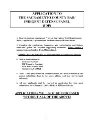 IDP Application - Sacramento County Bar Association