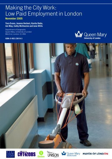 Making the City Work - Geography - Queen Mary University of London