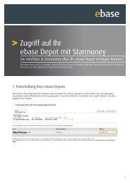 ebase StarMoney Zugang - AVL Finanzdienstleistung Investmentfonds