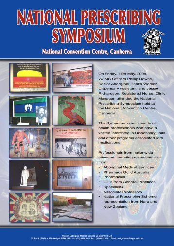 NATIONAL PRESCRIBING SYMPOSIUM - WAMS