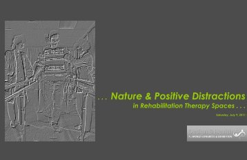. . . Nature & Positive Distractions