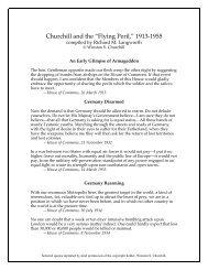 "Churchill and the ""Flying Peril,"" 1913-1955 - Winston Churchill"