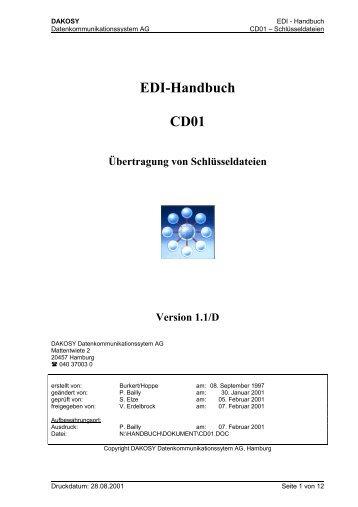EDI-Handbuch CD01 - DAKOSY Datenkommunikationssystem AG