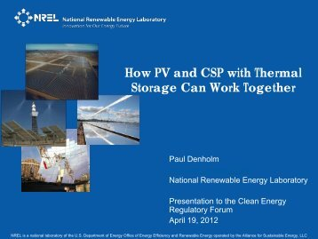 How PV and CSP with Thermal Storage Can Work Together