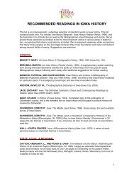 recommended readings in iowa history - State Historical Society of ...