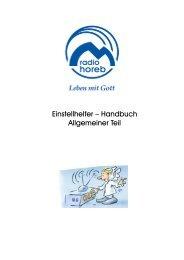 Allgemeine Infos - Radio Horeb