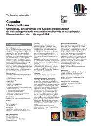 Capadur UniversalLasur Offenporige ... - Caparol Farben AG