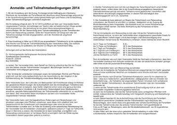 Teilnahmebedingungen - Evangelische Kirchengemeinde ...