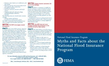 Myths and Facts about the National Flood Insurance Program