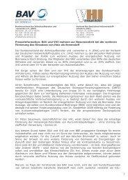 PM BAV Besonnenheit angemahnt_091005 - Holz ...