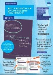 Post 16 Resources 2014-15