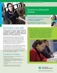 Feuillet promotionnel du programme (PDF) - Université de Sherbrooke