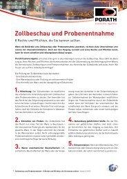 Zollbeschau und Probenentnahme - Porath Customs Agents