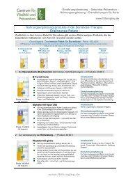 Nahrungsergänzungsprodukte In Der Borreliose-Therapie