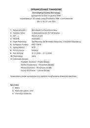 Sprawozdanie finansowe Fundacji za rok 2008 - Fundacja ...