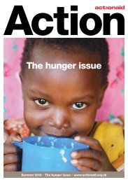 The hunger issue - ActionAid
