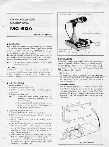 Kenwood Mc 60 Service manual