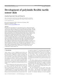 Development of polyimide flexible tactile sensor skin