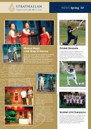 NEWS Spring '10 - Strathallan School
