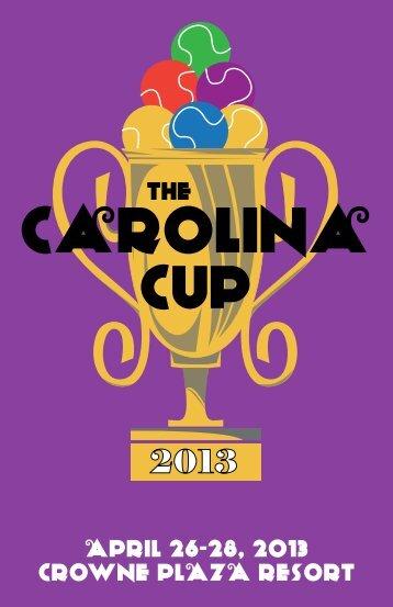 APRIL 26-28, 2013 CRowne PLAzA ResoRt - North Carolina Tennis ...