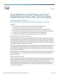 Cisco SPA514G 4-Line IP Phone with 2-Port Gigabit Ethernet Switch ...