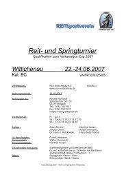 Reit- und Springturnier - RSV-Wittichenau
