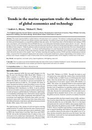 Trends in the marine aquarium trade: the influence of global - Bioflux