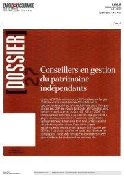 Numéro de Mai 2010 - Gestion de patrimoine à Paris