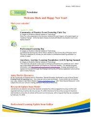 January 2008 - Alberta 1:1 Wireless Learning Community of Practice