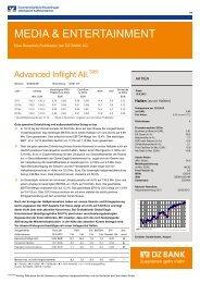 MEDIA & ENTERTAINMENT - Advanced Inflight Alliance AG