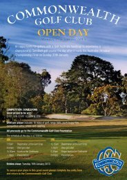 Commonwealth Golf Club - Open Day 2013