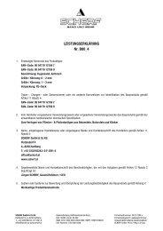 LEISTUNGSERKLÄRUNG Nr. B00_4 - Scherf