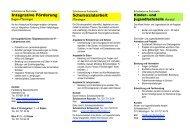 Schulinterne und -externe Fachstellen Münsingen