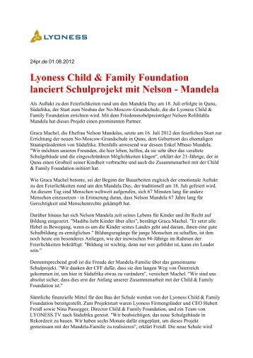 Mandela - Lyoness Child & Family Foundation