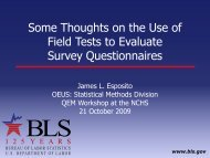 Some Thoughts on the Use of Field Tests to Evaluate Survey ...