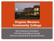 Liberal Arts and Social Sciences - Virginia Western Community ...