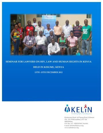 seminar for lawyers on hiv, law and human rights in kenya ... - Kelin