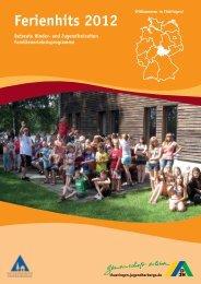 Katalog - Ferienhits 2012 - Jugendherbergen in Thüringen
